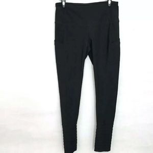 Mondetta Leggings Black Size M Ruffle On Ankle